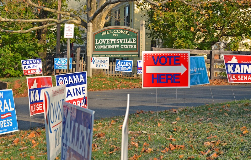 Election Day in Lovettsville, November 6 2012. Photo credit: John Flannery.