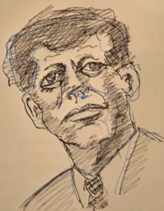 JFK sketch by John Flannery