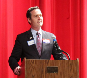 John Whitbeck, Park View High School mass meeting, 2013-12-16