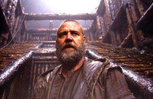 Russell Crowe as Noah, the 600-year old shipbuilder of the Ark