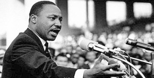 "MLK: ""Again and again, we must rise to the majestic heights of meeting physical force with soul force."""