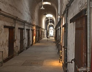 A row of cells at the model penitentiary in Philadelphia (photo by John P. Flannery)