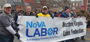 Labor marching to honor Martin Luther King in 2015 (photo by JPF)