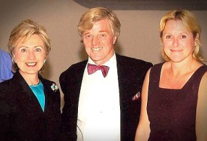 Two great women (Hillary Clinton and Holly Flannery) and one impressed guy
