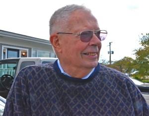 Eugene Scheel, map maker, at Bonnie's