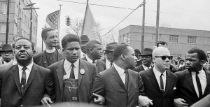 John Lewis (far right) with Martin Luther King, Selma