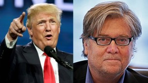 Mr. Donald Trump and Mr. Steve Bannon, the despotic duo.