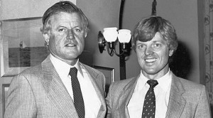 Senator Ted Kennedy and, well, yours truly