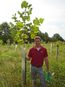 Chris Van Vlack planting trees
