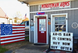 Warner Workman's gun shop