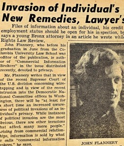 Little has improved since the author's privacy article published in 1972