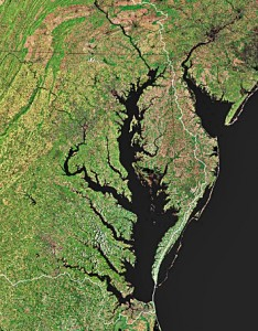The Chesapeake Bay (Courtesy, USGS Map)