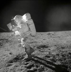 Edgar Mitchell on the Moon