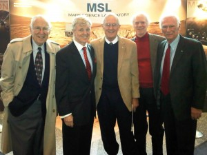 Jim Lovell, John Flannery, Charles Duke, Rusty Schweikert, and Gene Cernan